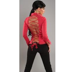 Sexy camicetta rossa con stringatura posteriore