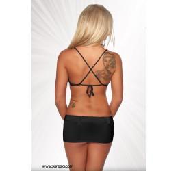 Sexy Completino nero reggiseno e minigonna con cintura tg. 38/42