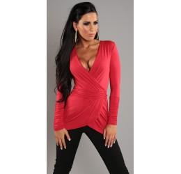 Sexy top lungo rosso taglia unica 40/44