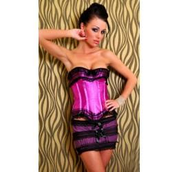 Corsetto viola con minigonna e perizoma 'Mimi' Lolitta Lingerie