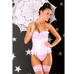 Corsetto rosa e perizoma con stelle argentate 'Cinderella' Lolitta Lingerie