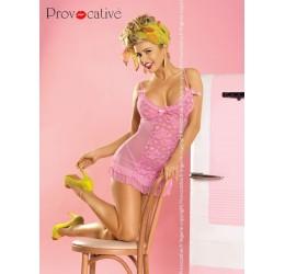 Sexy babydoll rosa in pizzo con perizoma 'Tango' da Provocative