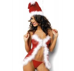 Babydoll cappellino e perizoma intimo Natale