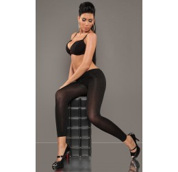 Sexy leggings neri lurex pantacollant 180 den taglia unica