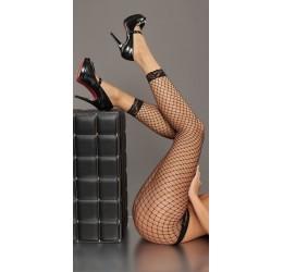 Sexy pantacollant neri in rete e pizzo taglia unica