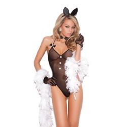 Sexy Completino da coniglietta 3 pezzi nero da Elegant Moments