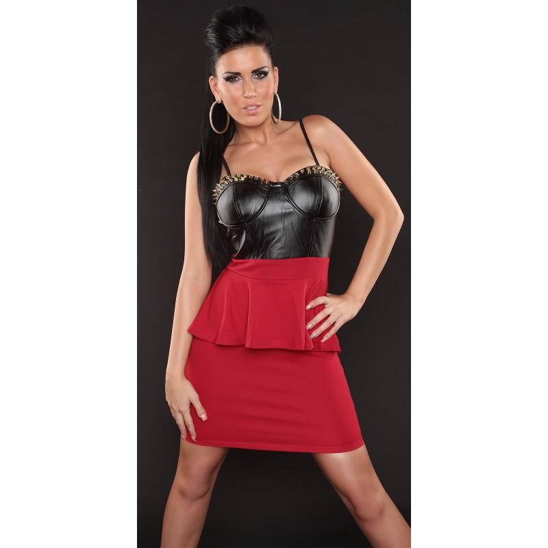 huge discount 8c2e3 4b418 Sexy mini abito rosso e nero con borchie dorate   Abiti sexy    Rosanerastore Size S (38/40) Color come foto